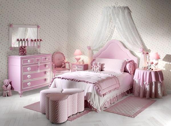 清新粉色女孩房装修效果图