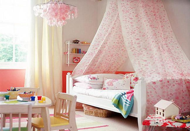 可爱小户型粉色女孩房图片
