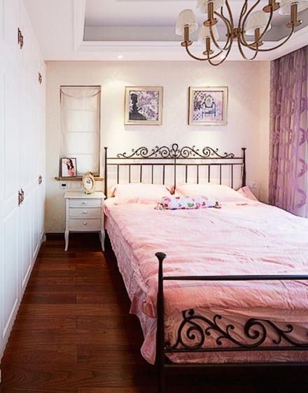 气质粉色女孩房设计效果图