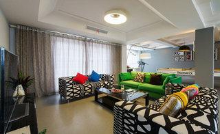 280平现代简约客厅吊顶设计图片