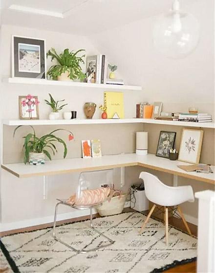 阁楼转角书桌设计图片