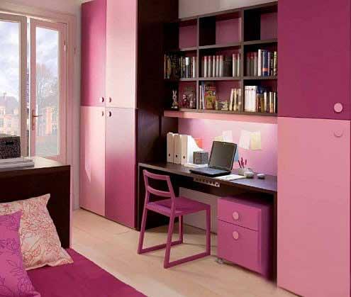 粉色系书房装修图片大全