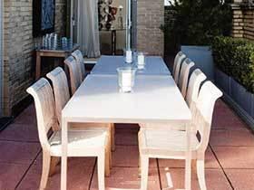 阳光中的小精灵  10款阳台餐桌装修实景图