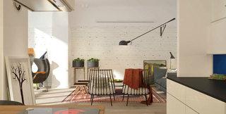 60平方小户型客厅装修设计图