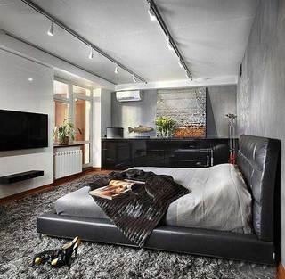灰色系卧室布置图片大全