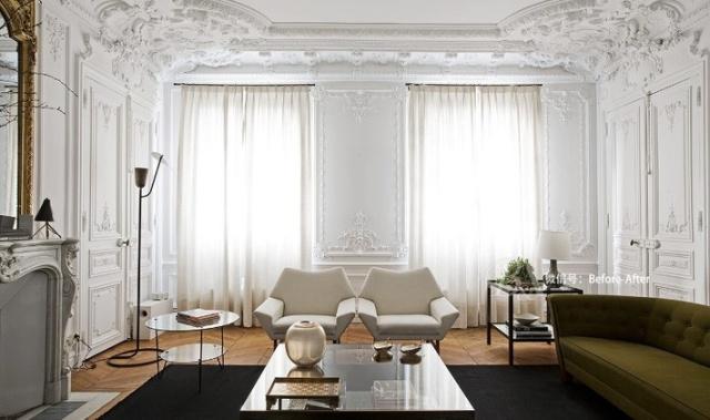 法式巴洛克 令皇室的古典奢华不再望尘莫及 精致打磨的墙体浮雕和石膏图片