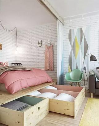 卧室收纳床装潢图片
