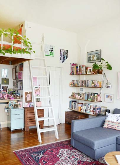小清新客厅装修装饰效果图