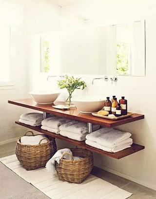 木质温馨洗手区装修装饰