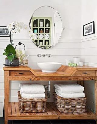 木质洗手区装饰效果图