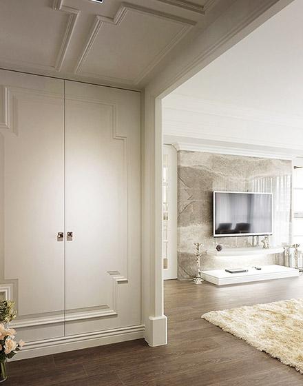 135平米美式风格两居室玄关装修图片