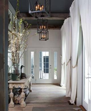 走廊窗帘设计实景效果图