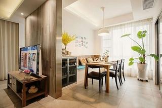 120平现代简约三室餐厅效果图