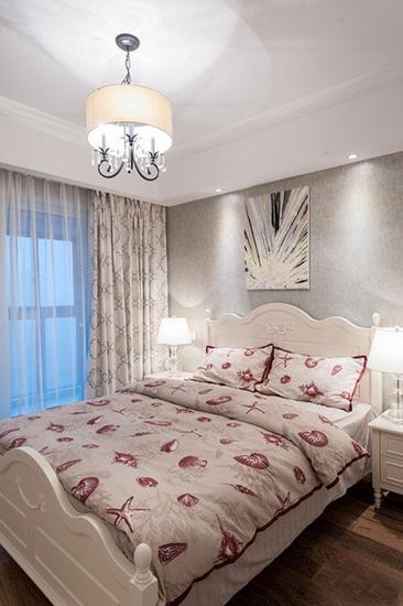 优雅现代美式次卧装潢效果图