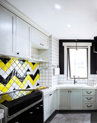 厨房花瓷砖装饰设计图