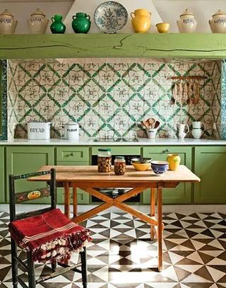 厨房花瓷砖地板装修设计