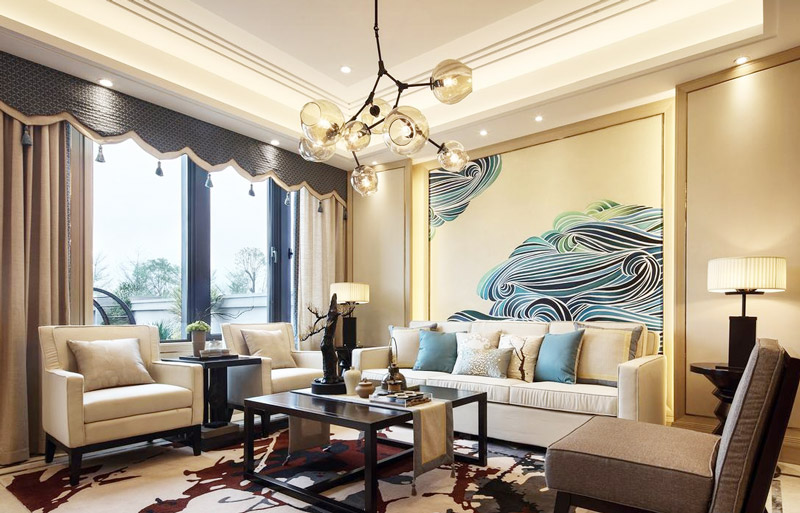 豪华后现代客厅装饰效果图