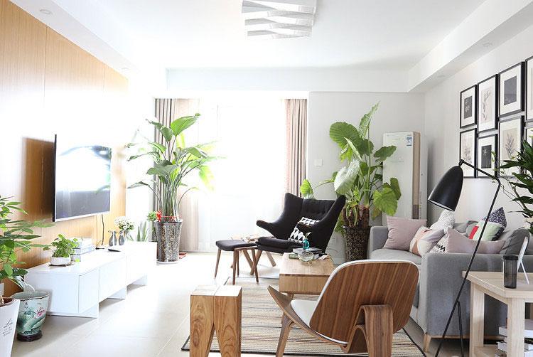 免费获取报价 收藏 公寓装修,北欧风格,80平米装修,小清新图片