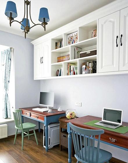 119平米美式风格双人书房设计