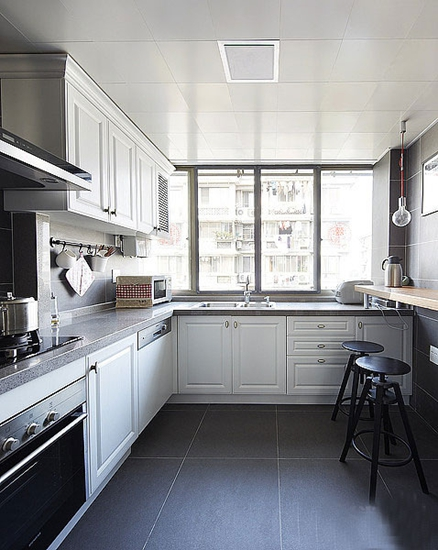 简约美式 黑白搭配厨房设计