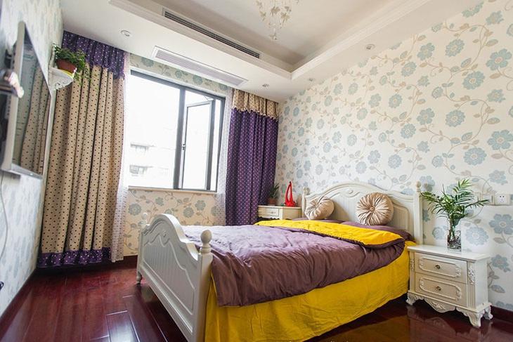 130平三室新中式装修卧室效果图