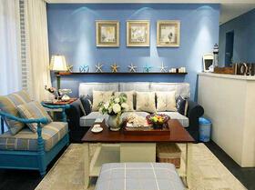 魅力蓝调空间 地中海风格两居室装修