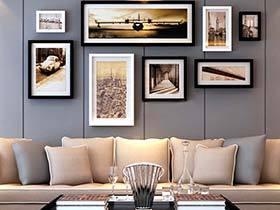 把回忆挂在心上  10款客厅照片墙设计图片