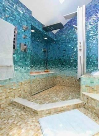 蓝色系卫生间装修图片大全