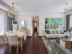 100㎡两居室设计效果图  现代的靓丽生活