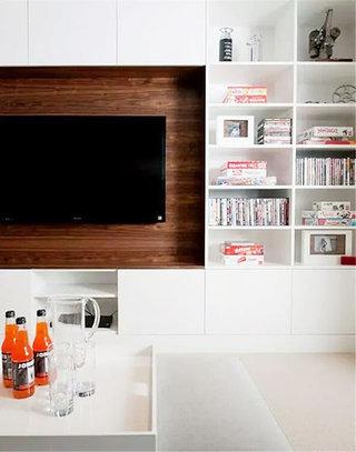 客厅电视背景墙收纳效果图
