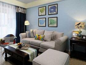 蓝调美家  田园美式三居室