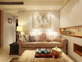 76平现代美式风格小户型装修 温馨舒适空间