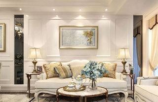 85平欧式风格两居室客厅装修效果图