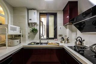 时尚现代简欧风厨房 U型橱柜设计