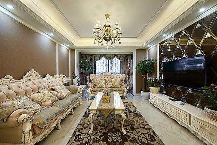 奢华现代欧式客厅装饰效果图