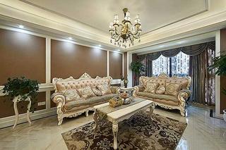 110平两居欧式风格装修欧式客厅设计
