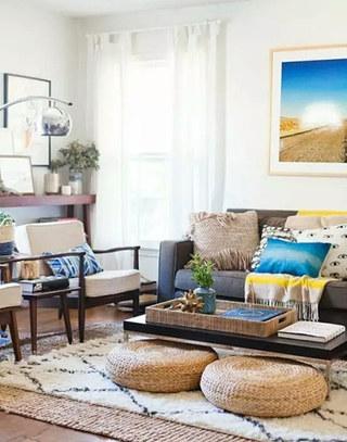舒适客厅茶几地毯装修