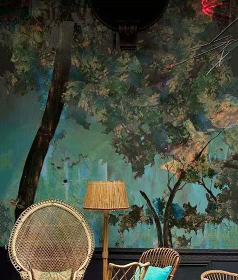 客厅手绘背景墙效果图