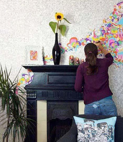 客厅手绘背景墙图片大全
