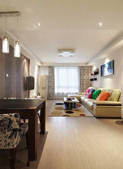 简约风装修温馨舒适客厅图