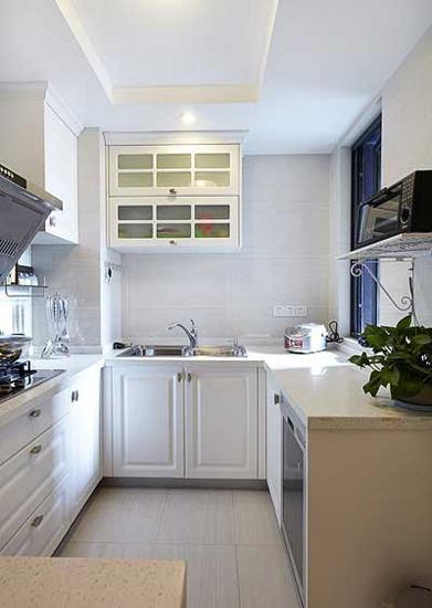 明亮简欧风格 厨房橱柜设计图片
