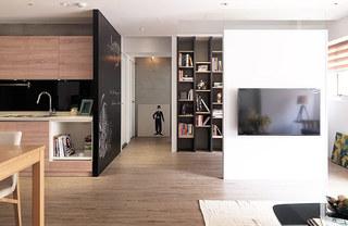 70平北欧风格电视背景墙隔断装修