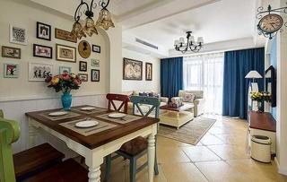 复古美式地中海 客餐厅装饰图