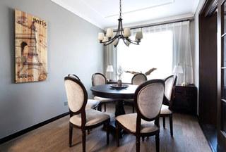 135平米美式风格三居室餐厅装潢图