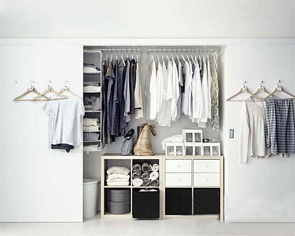 墙面衣柜收纳设计参考图片