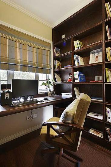 120平雅致美式装修风格书房设计