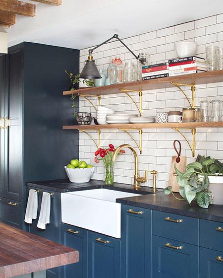 220平美式别墅厨房橱柜效果图