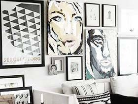 记录美好时刻  10款客厅照片墙装修实景图