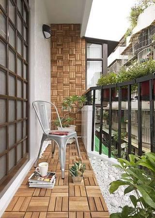 景观阳台装修装饰效果图