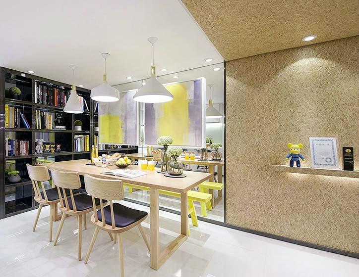 现代新中式餐厅装饰效果图